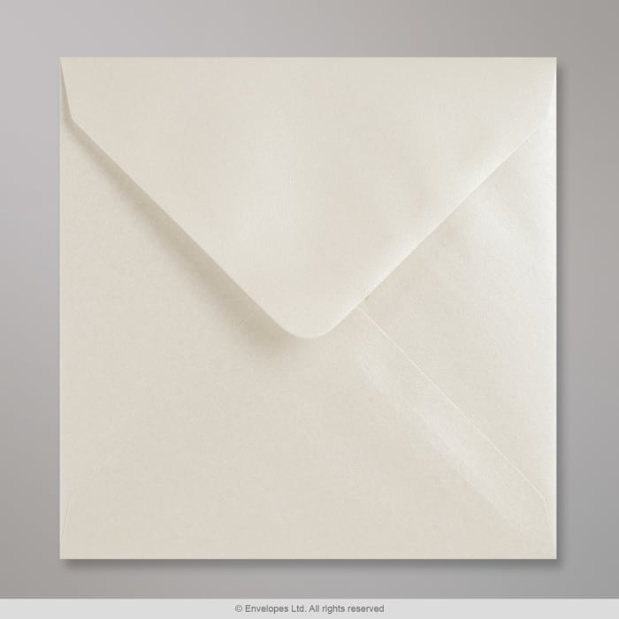 140x140mm Grijswitte glanzende envelop