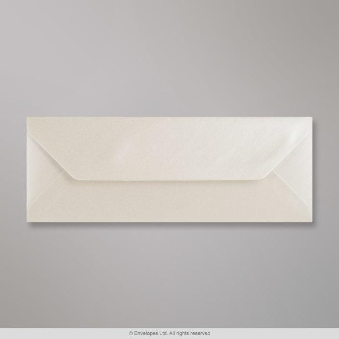 Austernfarbener Perlglanz-Briefumschlag 80x215 mm