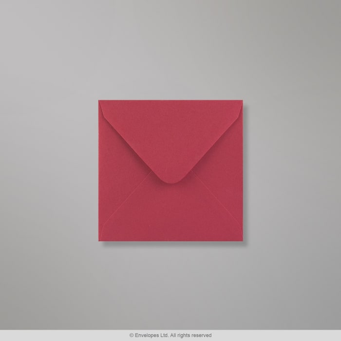 110x110 mm Clariana-klarröd kuvert