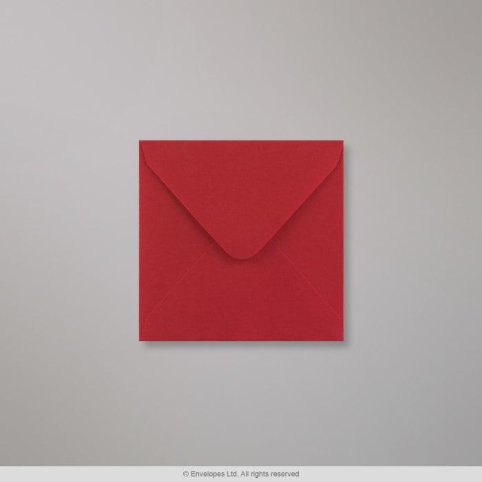 Mørkerød Clariana-konvolut 110x110 mm