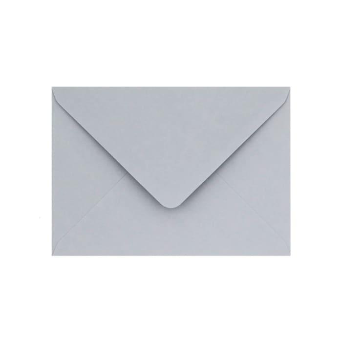 Pastelově šedá obálka Clariana 125x175 mm