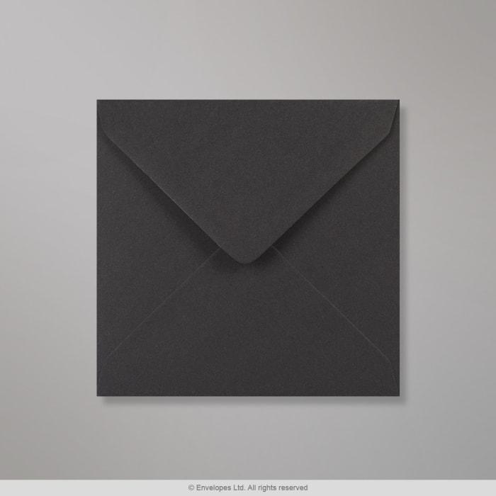 Clariana, musta kirjekuori 130x130 mm
