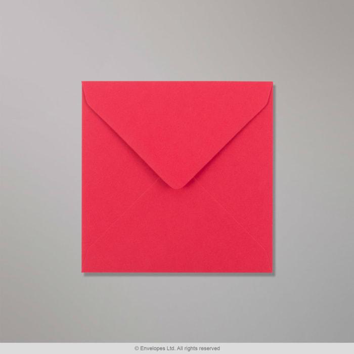 130x130 mm Clariana, kirkkaanpunainen kirjekuori