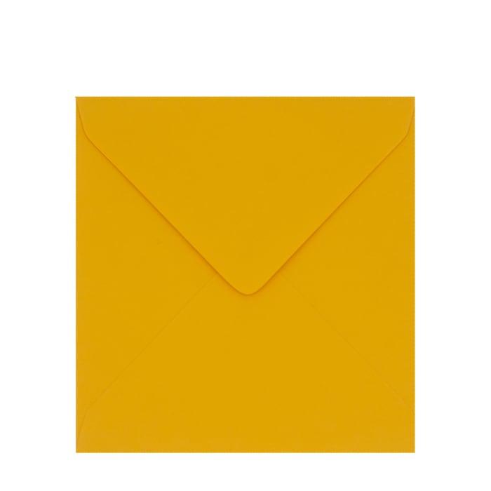 Horčicová obálka Clariana 130x130 mm