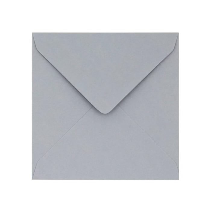 Enveloppe Clariana grise pâle 130x130 mm