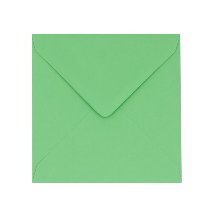 130x130 mm Clariana Pale Green Coloured Envelope