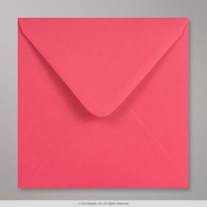 Pinkfarbener Clariana Briefumschlag 155x155 mm