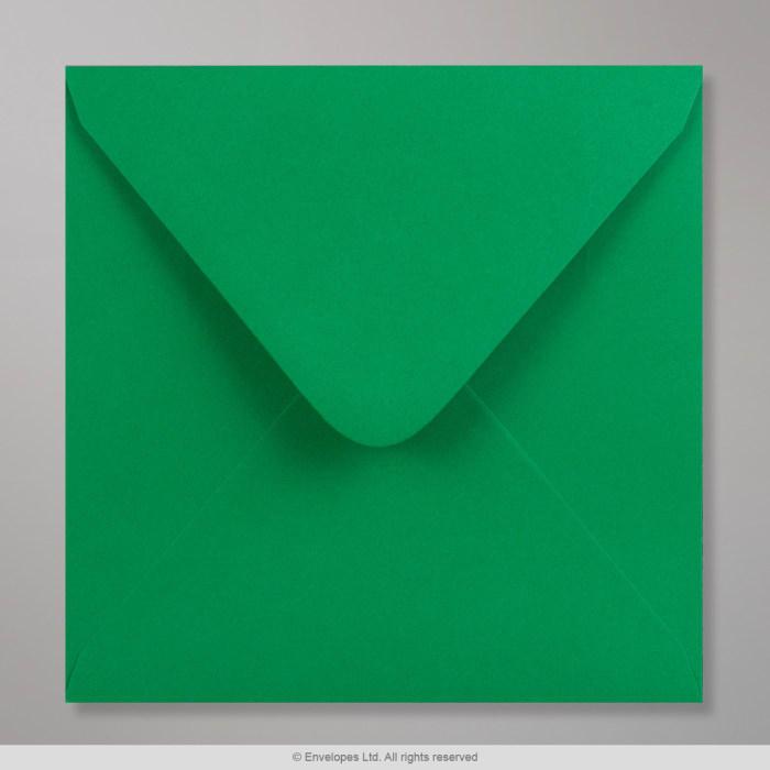 Clariana, tummanvihreä kirjekuori 155x155 mm