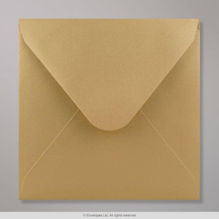 Goldener Clariana Briefumschlag 155x155 mm