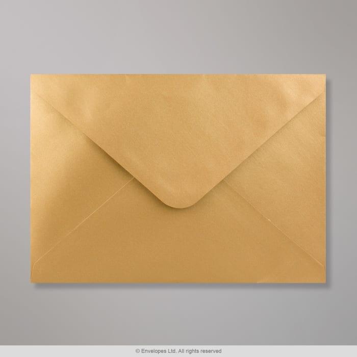 Goldener Briefumschlag 162x229mm mm (C5)