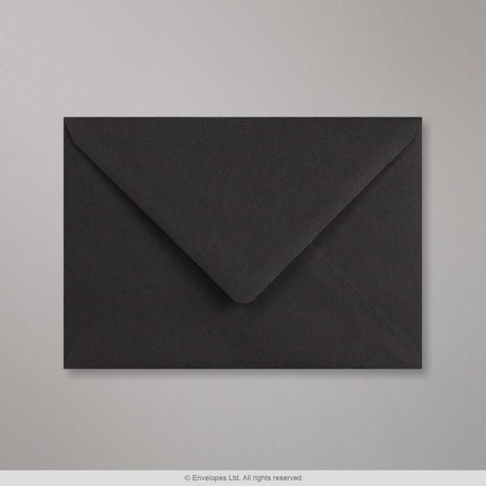 114X162 mm (C6) Clariana-svart kuvert