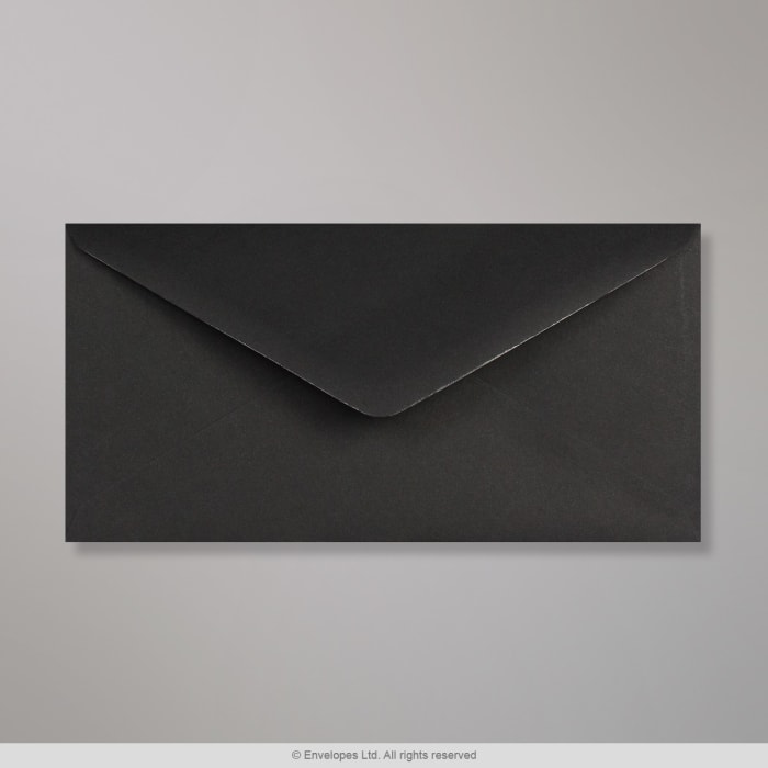 110x220 mm (DL) Čierna obálka Clariana