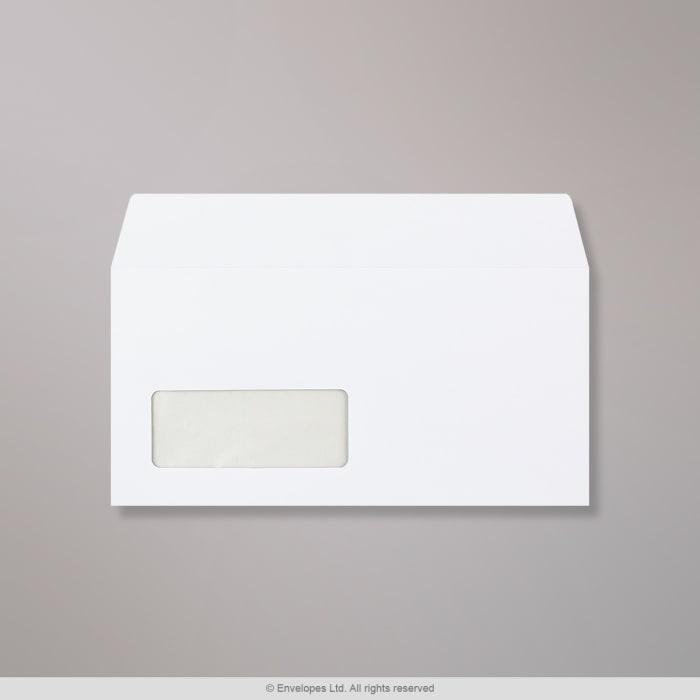 Valkoinen kirjekuori 110x220 mm (DL)