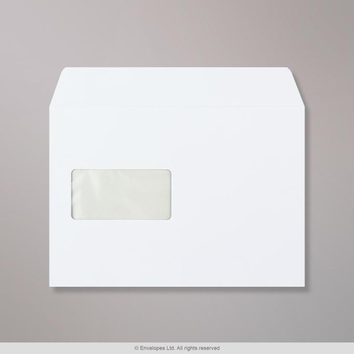 Weißer Briefumschlag 162x229 mm (C5)