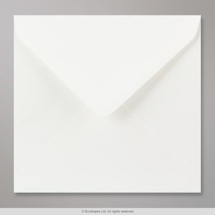 Valkoinen vesiviivapaperinen kirjekuori 155x155 mm