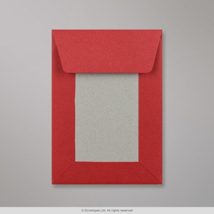 Tummanpunainen pahvitaustainen kirjekuori 162x114 mm (C6)