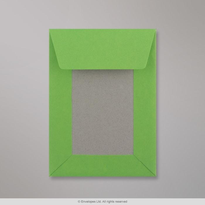 162x114 mm (C6) Busta con dorso rigido verde