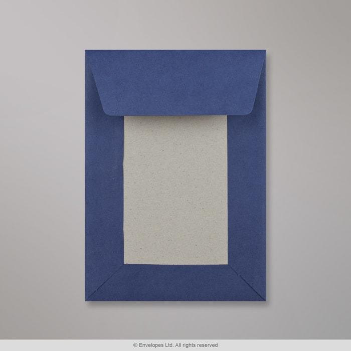 162x114 mm (C6) Marinblått kuvert med pappbakstöd