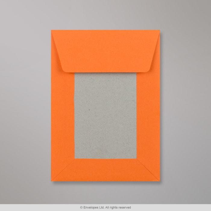 Sobre naranja con dorso de cartón de 162x114 mm (C6)