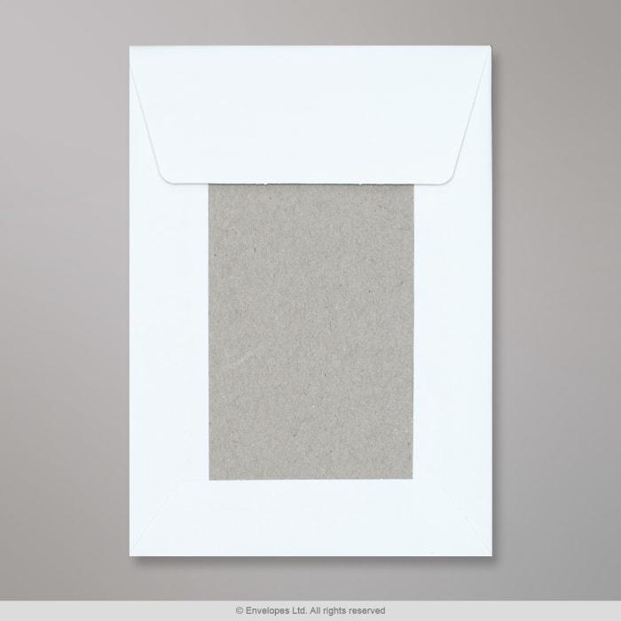 162x114 mm (C6) Wit Boord-Achterkant Envelop