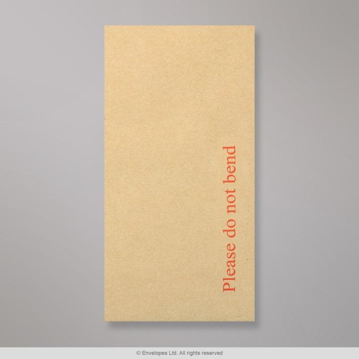 Manillanvärinen pahvitaustainen kirjekuori 220x110 mm (DL)