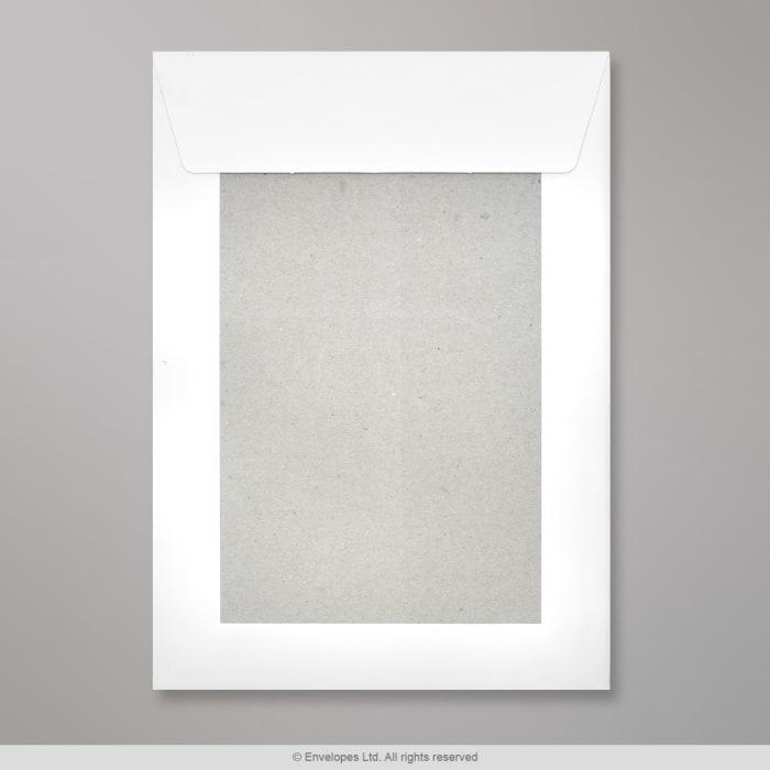 267x216 mm Biela obálka s kartónovou zadnou stenou