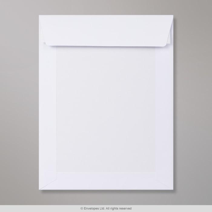 240x185 mm Biela obálka s kartónovou zadnou stenou