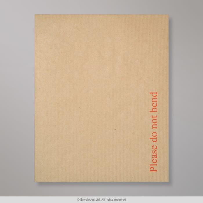 Manila Papprückwandtasche mit Aufdruck 267x216 mm