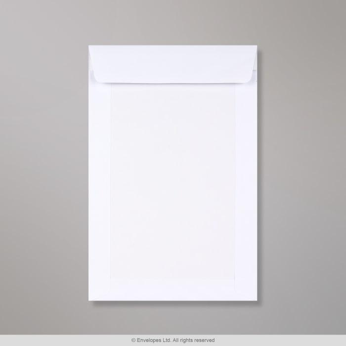 Valkoinen pahvitaustainen kirjekuori 280x185 mm