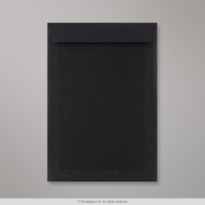 Enveloppe toute noir dos cartonné 324x229 mm (C4)