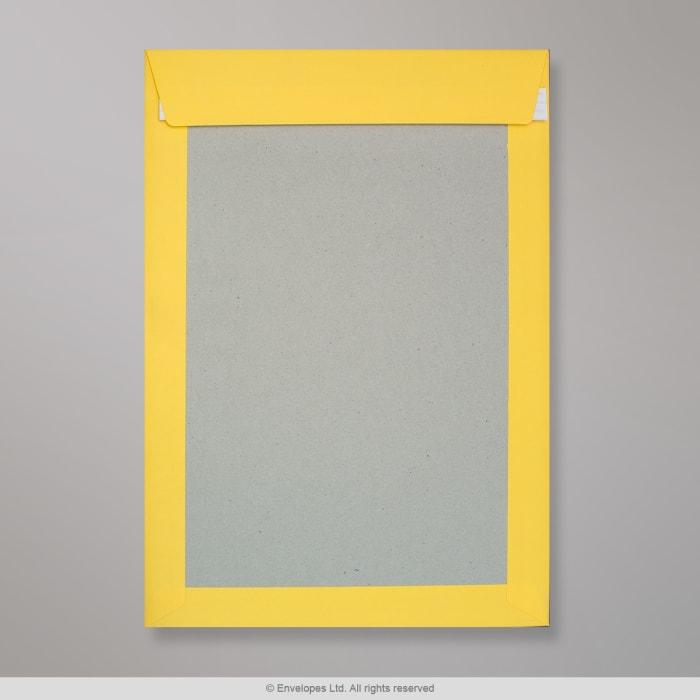 Enveloppe dos cartonné jaune foncée 324x229 mm (C4)