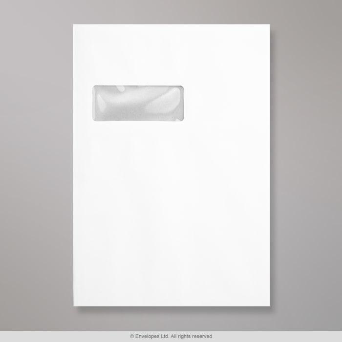 Enveloppe blanche- dos cartonné et fenêtre 324x229 mm (C4)