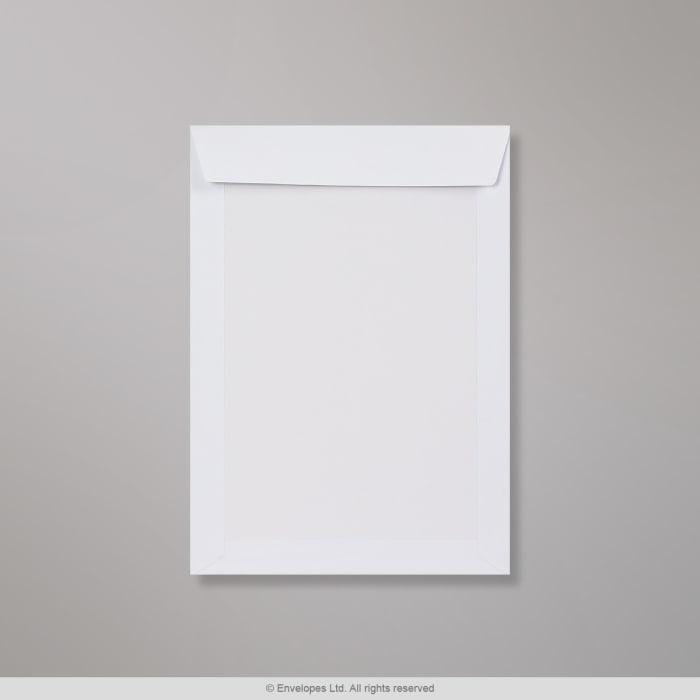 Voll-Weiße Papprückwandtasche 400x280 mm