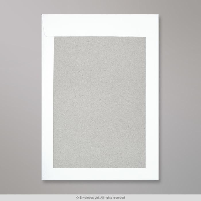 Bílá obálka s kartonovou zadní stěnou 324x229 mm (C4)