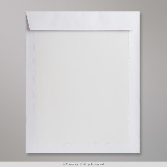 Enveloppe blanche- dos cartonné 430x320 mm