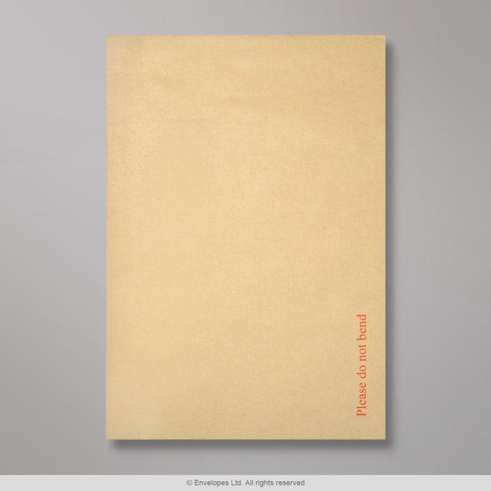 457x324 mm (C3) Busta con dorso rigido avana con stampato Please do not bend