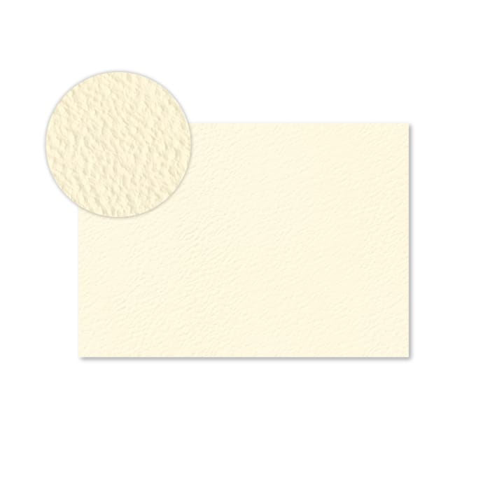 Tarjeta de papel marfil con efecto martillo de 300 g/m² (A5)