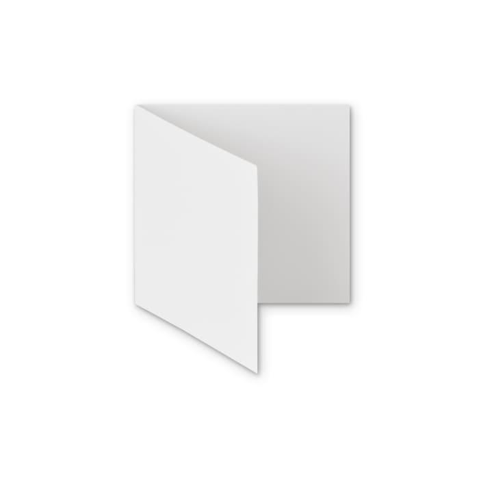 Biglietti in carta riciclata colore bianco di 300 g/m² 145 x 145 mm