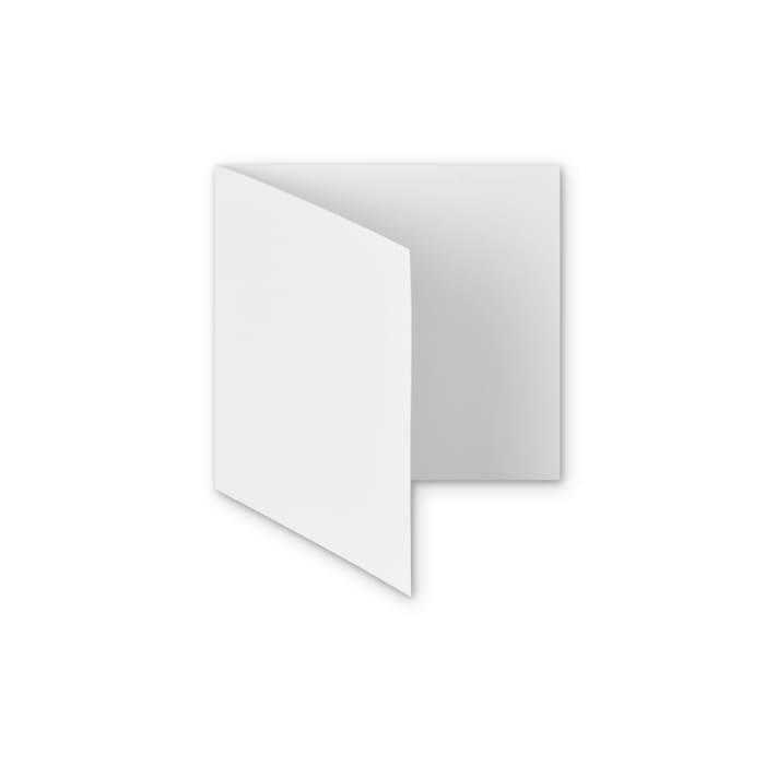 Weiße papierkarte mit hammerschlag-effekt von 300 g/m² 145x145 mm