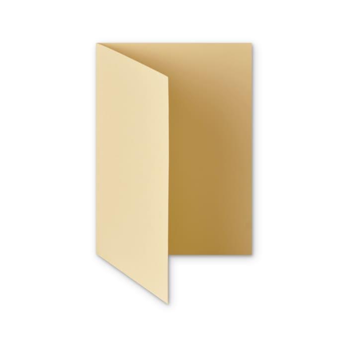 Tarjeta plegable de papel marfil martillado de 300 g/m² de (A5)