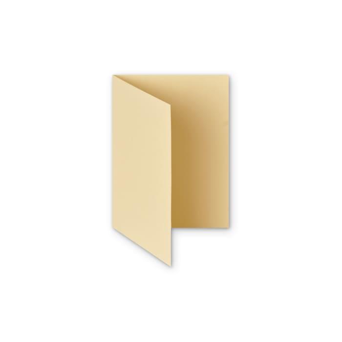 Tarjeta plegable de papel marfil martillado de 300 g/m² de (A6)