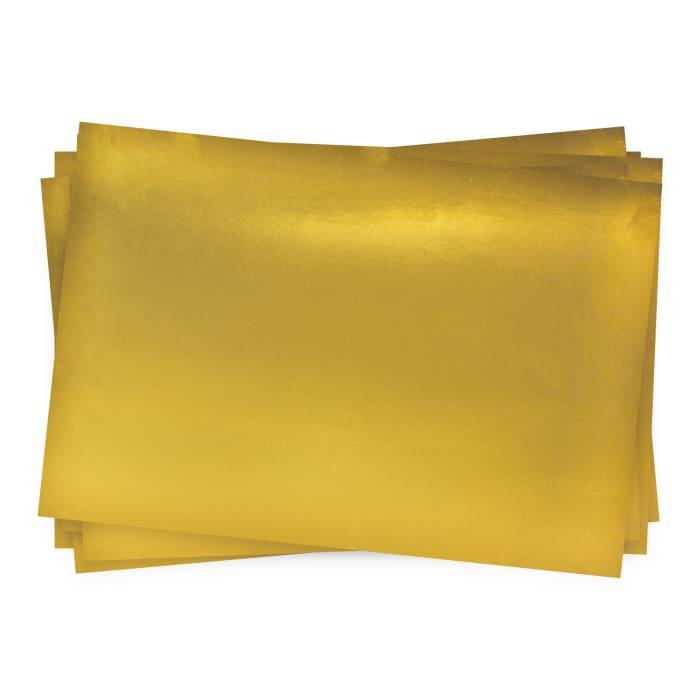 Carte en papier finition miroir doré 280-300 g/m² (A4)