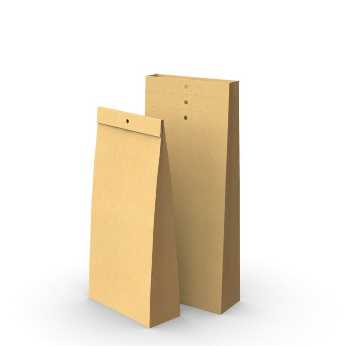 Kraft sample bag with holes 285x120x50mm