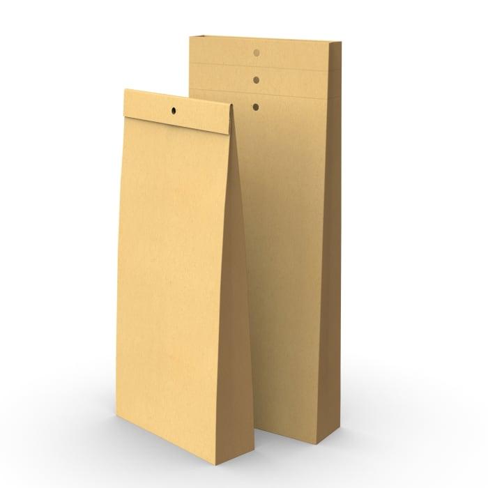 Kraft sample bag with holes 345x140x45mm