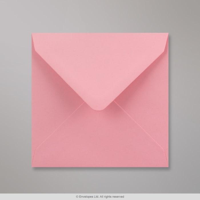 Vaaleanpunainen kirjekuori 130x130 mm