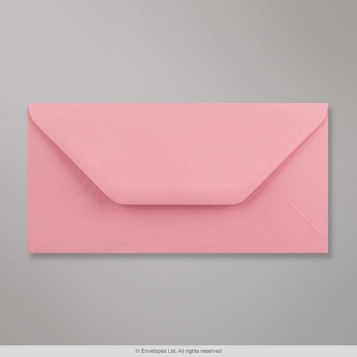 Rosa Briefumschlag 110x220 mm (DL)