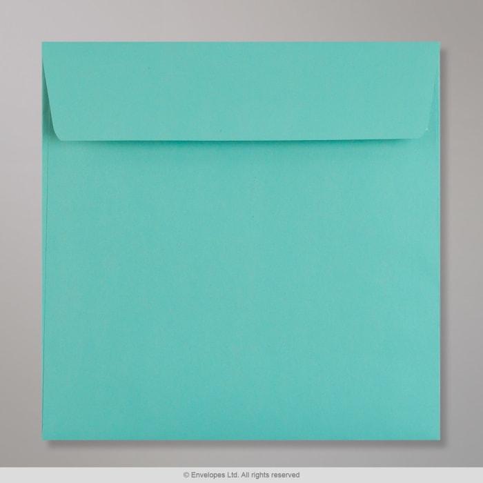 Türkisfarbener Clariana Briefumschlag 155x155 mm