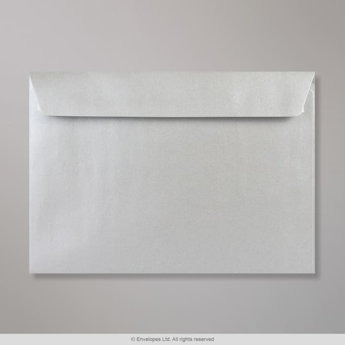 Hopeanvärinen kirjekuori 162x229 mm (C5)