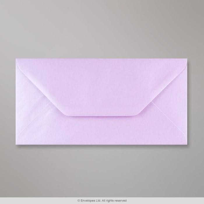 Lila Perlglanz-Briefumschlag 110x220 mm (DL)