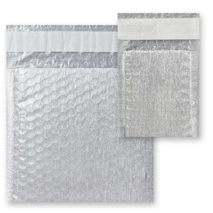 Bublinkové obálky s efektom brúseného hliníka